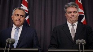 Joe Hockey and Mathias Corman